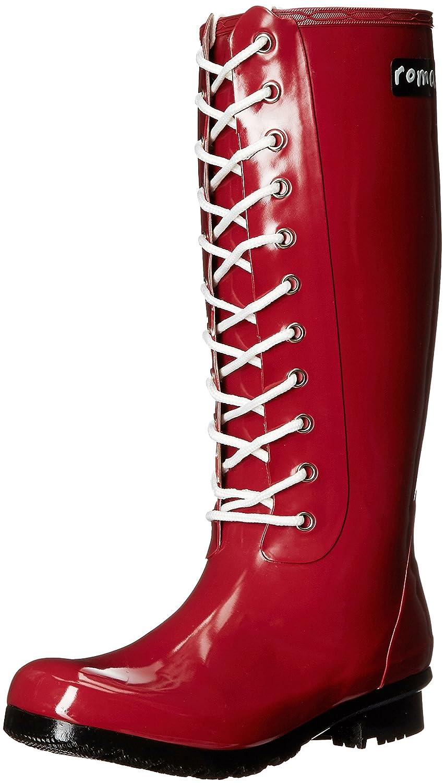 Roma Boots Women's OPINCA Lace-up Rain Boots B01L2WNIIU 8 B(M) US|Claret