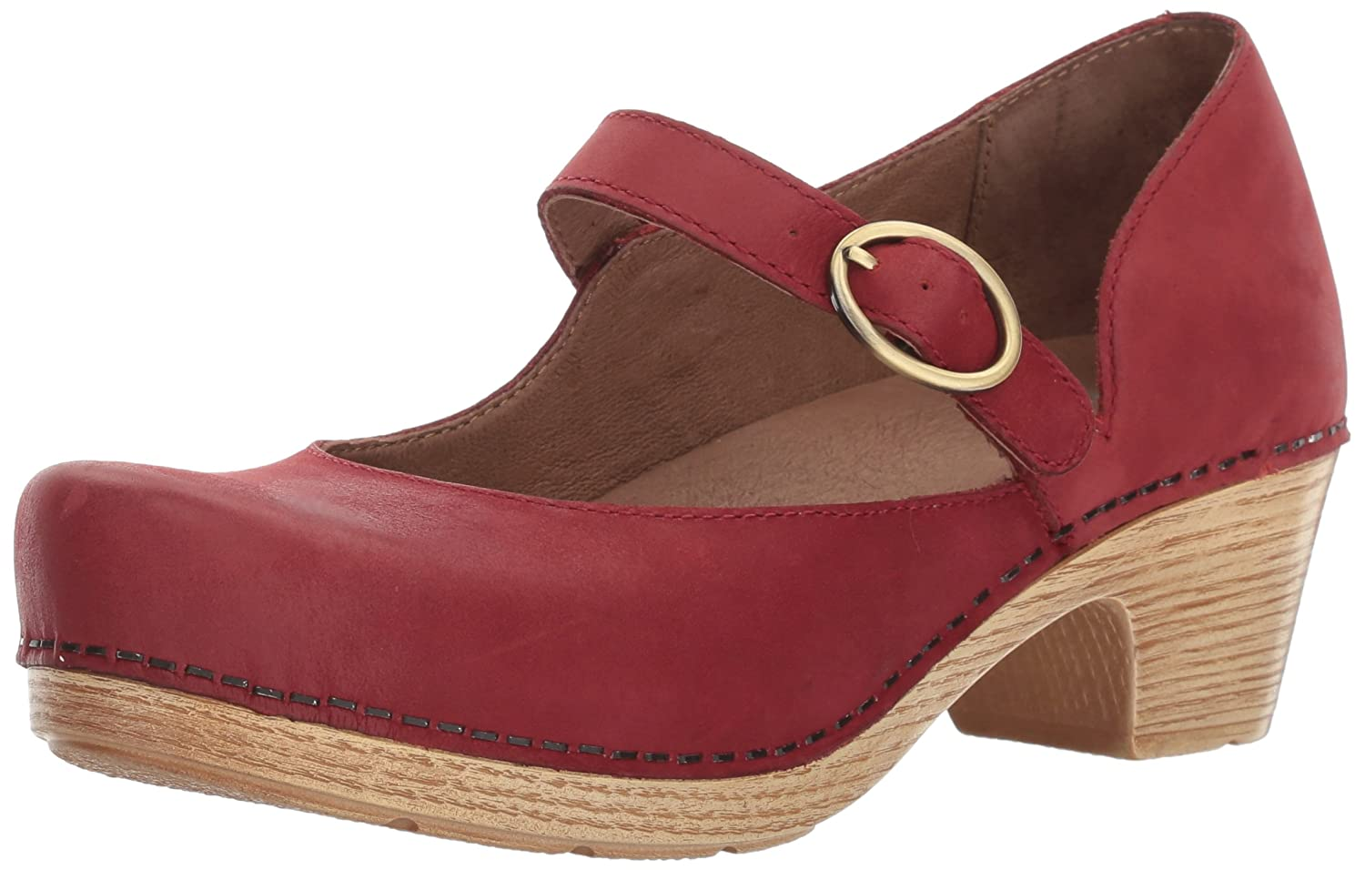 Dansko Women's Missy Mary Jane Flat B01N5K9E75 40 EU/9.5-10 M US|Red Veg