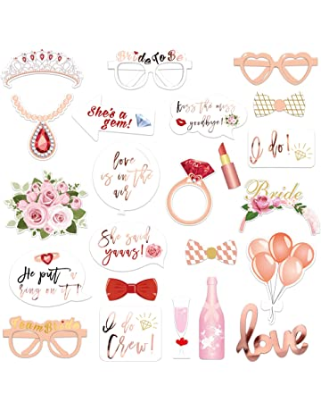 d77591f5bcdf Wedding Bridal Shower Photo Booth Props(23Count)
