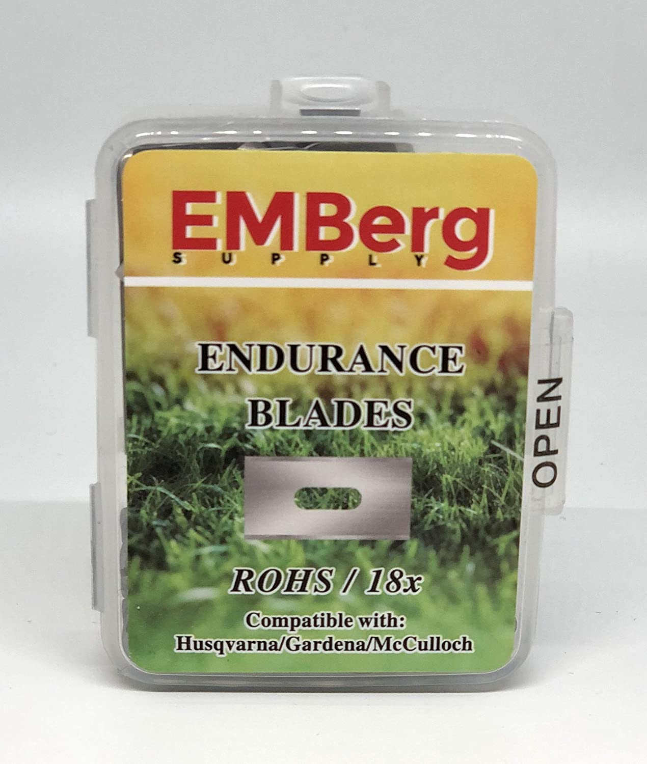EMBergSupply Endurance Blades for All Husqvarna Automower/Gardena Robotic Lawnmowers, with Screw (Steel)…
