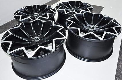 Llantas Negras de 45 cm con diseño de M (Juego Completo de 4) 5 x 100
