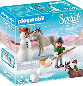 Playmobil Spirit Riding Free Snow Time with Snips & Señor Carrots