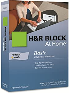 H&R Block At Home 2009 Basic Federal + eFile [Formerly TaxCut]