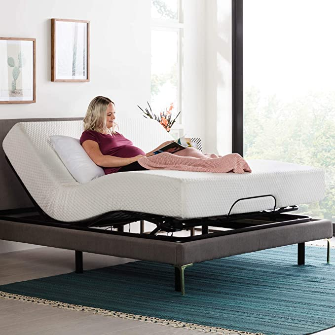 Amazon.com: LINENSPA Motorized Head and Foot Incline-Quick and Easy Assembly-Queen Adjustable Bed Base, Black: Furniture & Decor