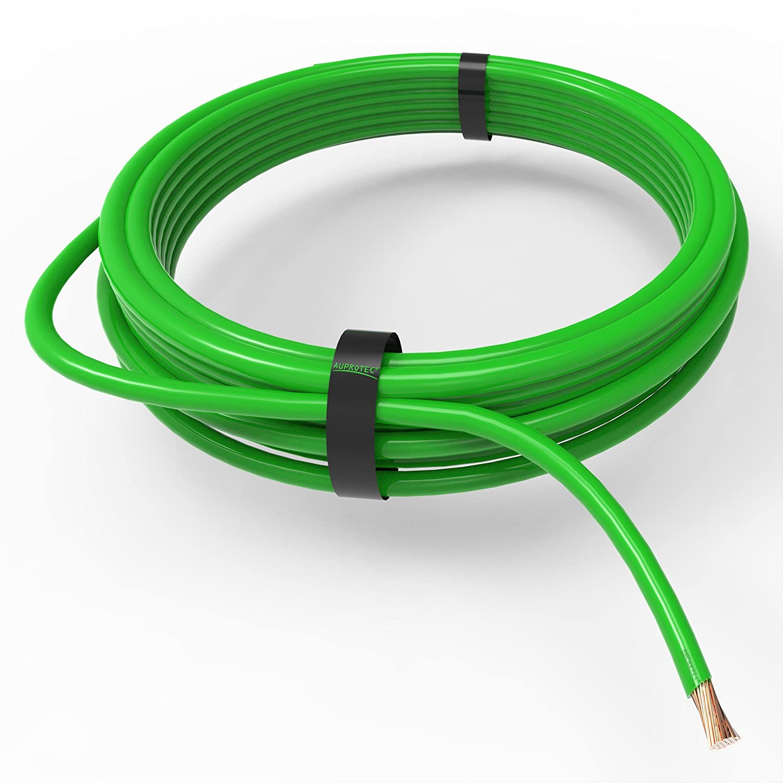 Auprotec® Cavo unipolare 0.5 mm² FLRY-B Filo elettrico ad anello: 5m, verde Auprotec® Automotive Wires AU-FLRYB-050GN05