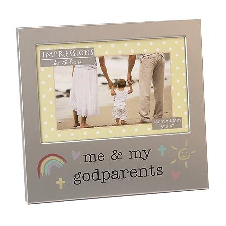 Me and My Godparents Photo Frame Brushed Aluminium Juliana ...