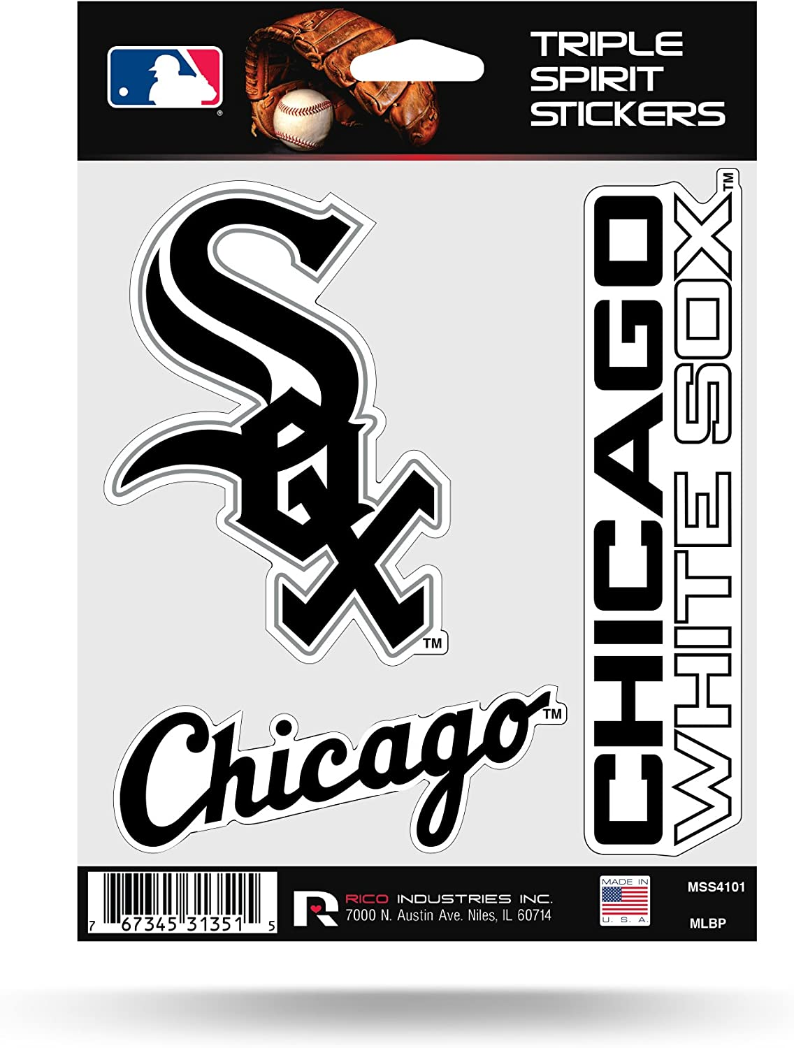 Wincraft MLB Chicago White Sox 84404010 Multi-Use Decal 3 x 4 3 x 4