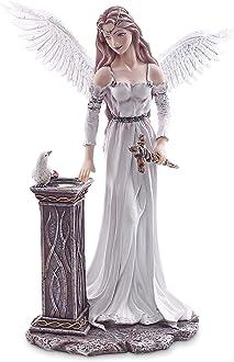 Dipinta a Mano Scopri la magia Collezione Amy Brown Statuina Figura Amore per i Dettagli Altezza 43,5 cm Les Alpes Statuetta Fata Regina dinverno Elaine