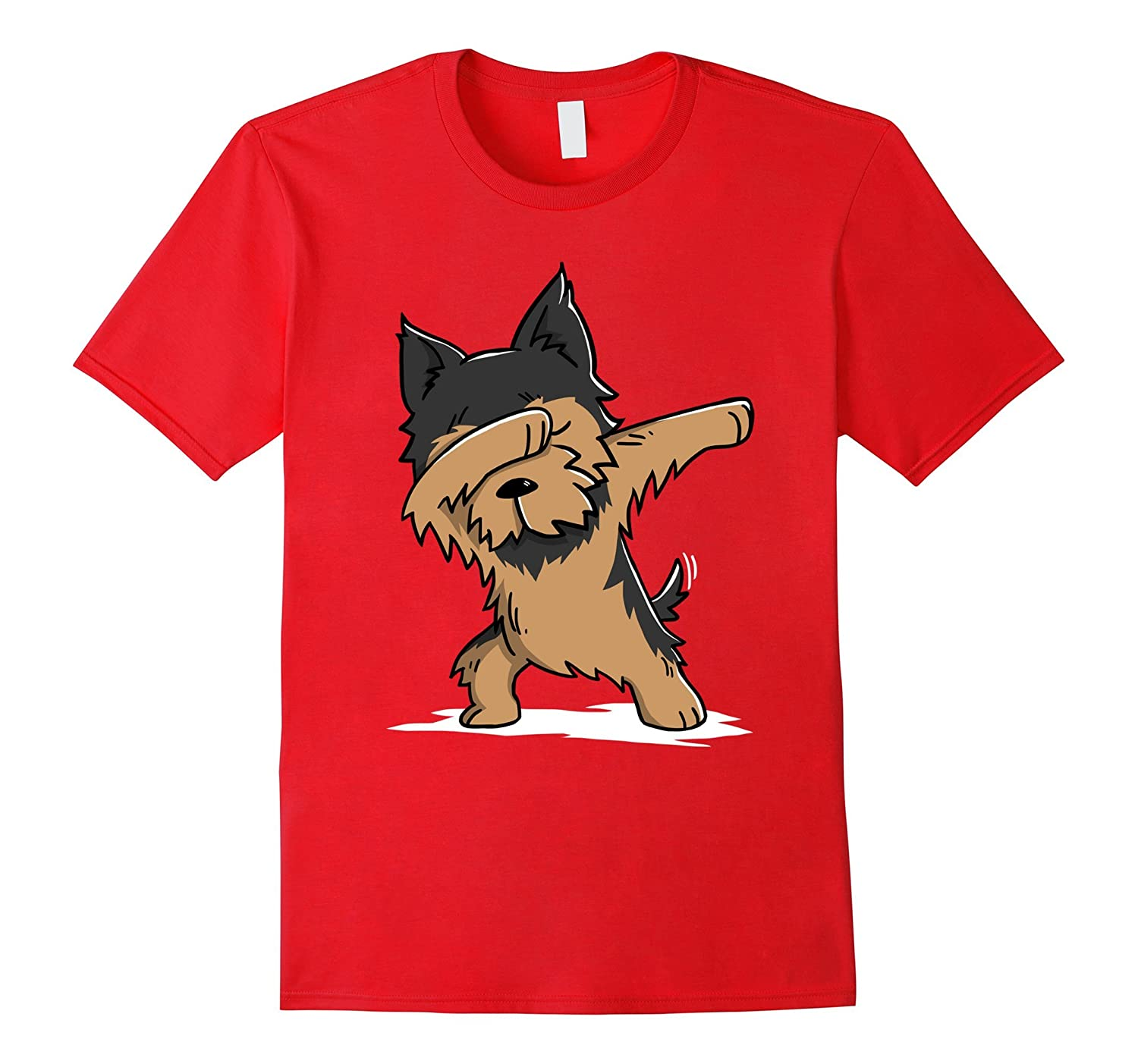 Yorkshire Terrier Cute Dabbing T-Shirt Funny Dab Dance Gift-CL
