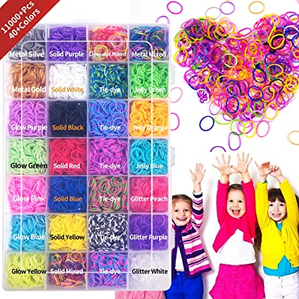 Yellow 24 C-CLIPS NEW 600 Scented Mix Colors-Solid Loom Rubber Band Refill Pack