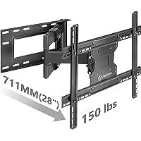 "ONKRON TV Wall Mount Bracket Full Motion Articulating Arm for 40"" - 60 Inch LED LCD Plasma Flat Screen TV with Tilt Swivel 150 LBS Loading Capacity M7L"