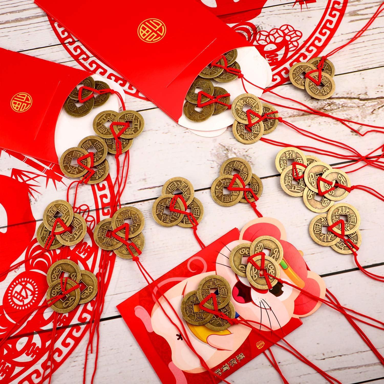 Chinesische Feng Shui Glücksmünzen (30 Stück mit 5 verschiedene Stile)