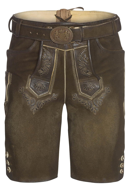 DISTLER Kurze Lederhose Wasi - Herren Herren-Leder-Hose,Trachten,kurz,Gürtel,Shorts