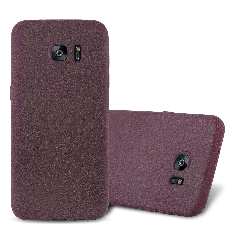 Cadorabo Funda para Samsung Galaxy S7 en Frost Lila Burdeos - Cubierta Proteccíon de Silicona TPU Delgada e Flexible con Antichoque - Gel Case Cover ...