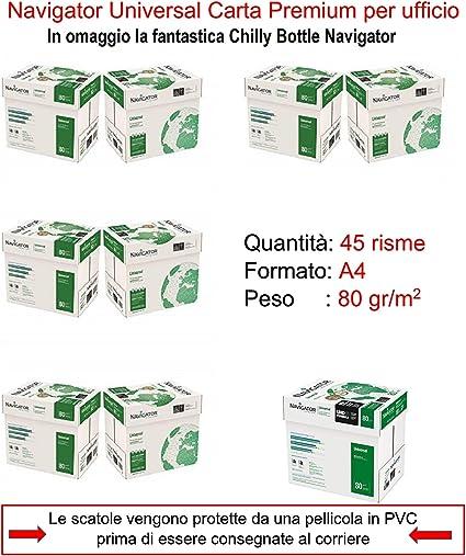 Papel Navigator DIN A4 80 gr. Caja 5 paquetes: Amazon.es: Oficina y papelería