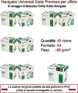 Papel Navigator DIN A4 80 gr. Caja 5 paquetes: Amazon.es: Oficina ...