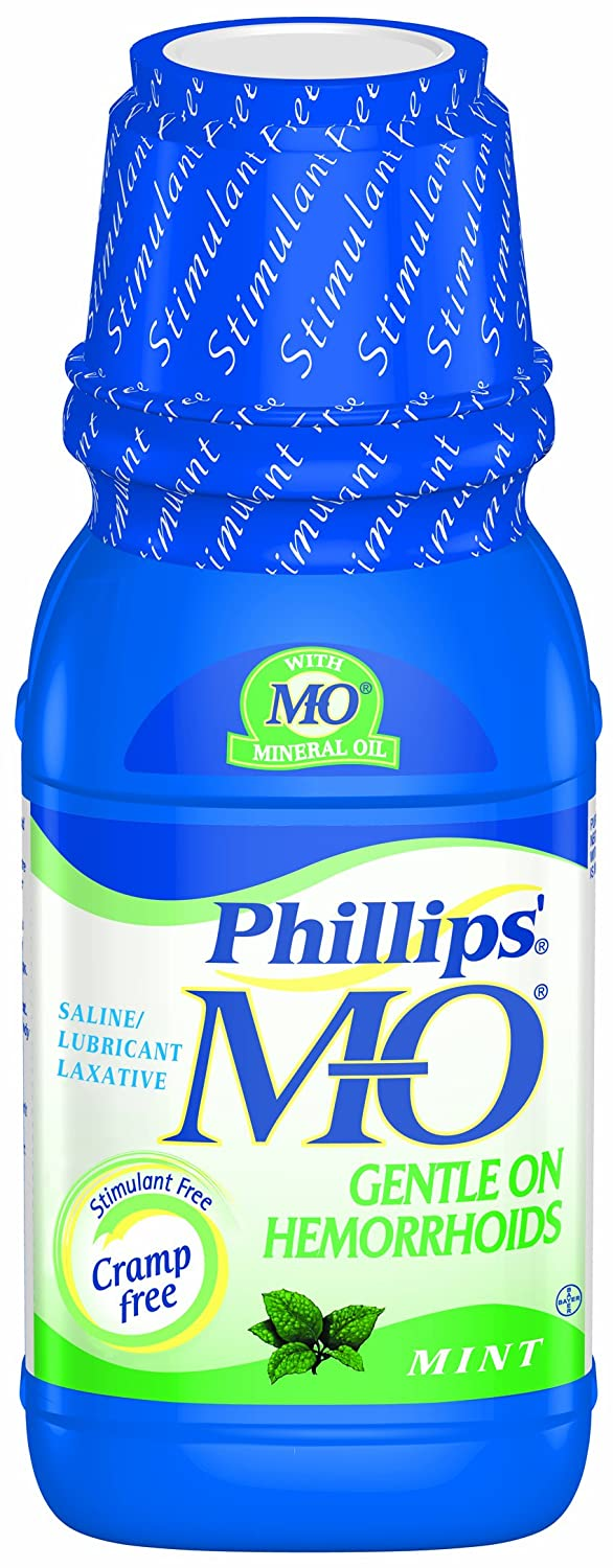 Amazon.com: Phillips Milk of Magnesia with Mineral Oil, Mint, 12-Ounce (Pack of 2): Health & Personal Care