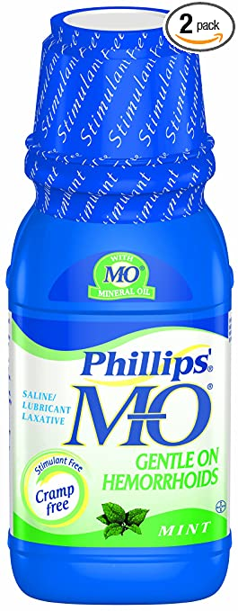 Phillips Milk of Magnesia with Mineral Oil, Mint, 12-Ounce (Pack