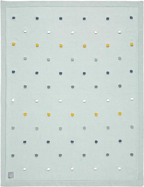 Lässig 1542005561 - Manta de punto para bebé algodón orgánico/knitted blanket gots dots, unisex Lot de 1: Amazon.es: Bebé