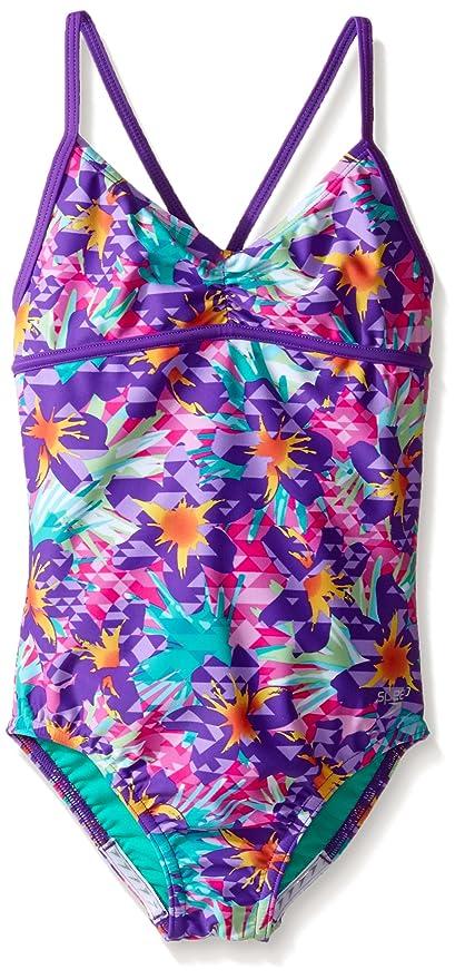 5bbe8ea1b1 Amazon.com  Speedo Girls Jungle Floral One Piece Swimsuit  Sports ...