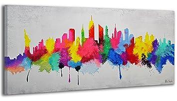 Ys Art Tableau Peinture Acrylique Bonne Humeur I Peint à La Main I
