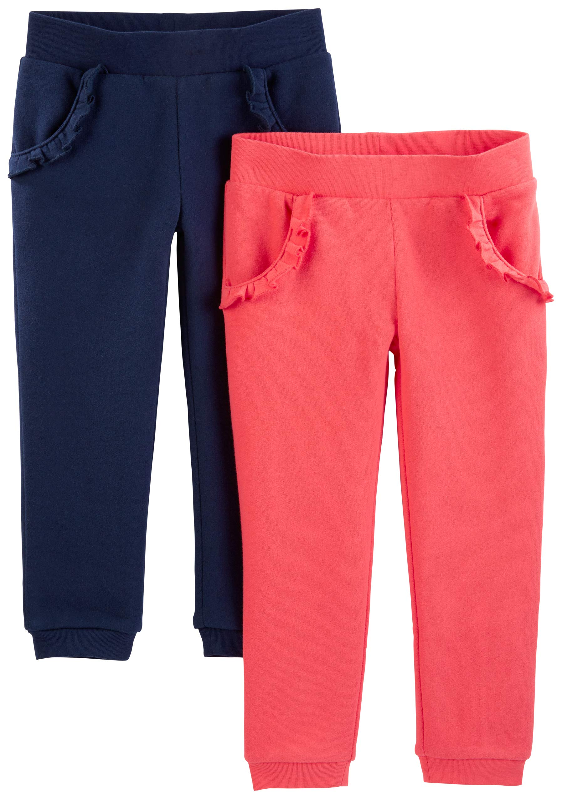 bce466346c1 Simple Joys by Carter s Toddler Girls  2-Pack Pull on Fleece Pants product  image