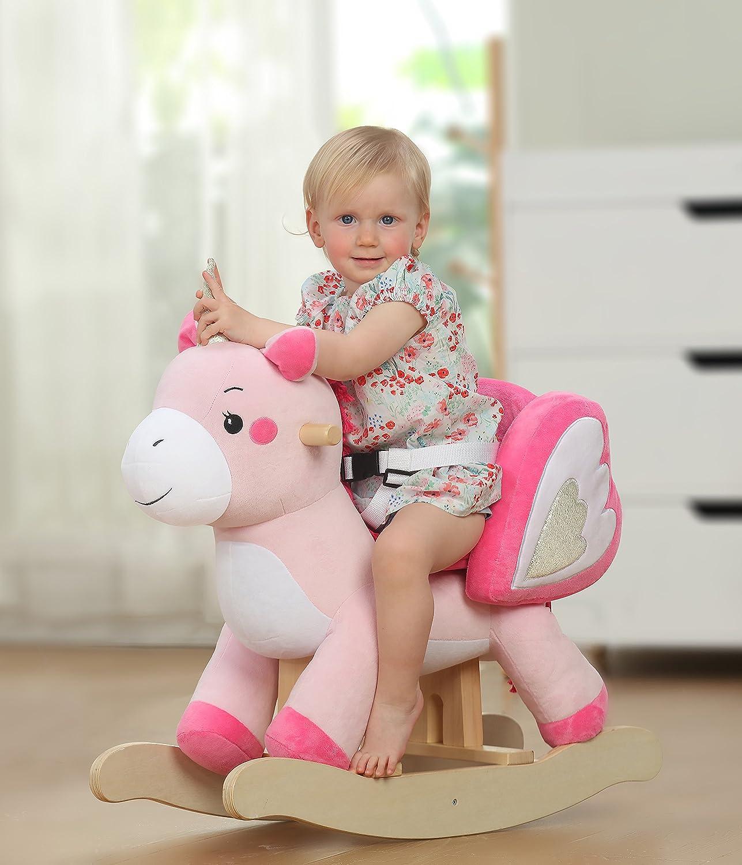 Amazon Labebe Child Rocking Horse Toy Pink Rocking Horse