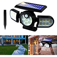 Solar Lights Outdoor,Solar Garden Lights,2 In1 Solar Powered In-Ground Spotlight so with 140 COB LED Automatic Motion…