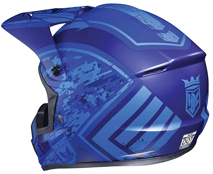 Amazon.com: HJC Helmets CS-MXII Squad Unisex-Adult Snowcross/Off-Road Motorcycle Helmet (Blue, Large): Automotive