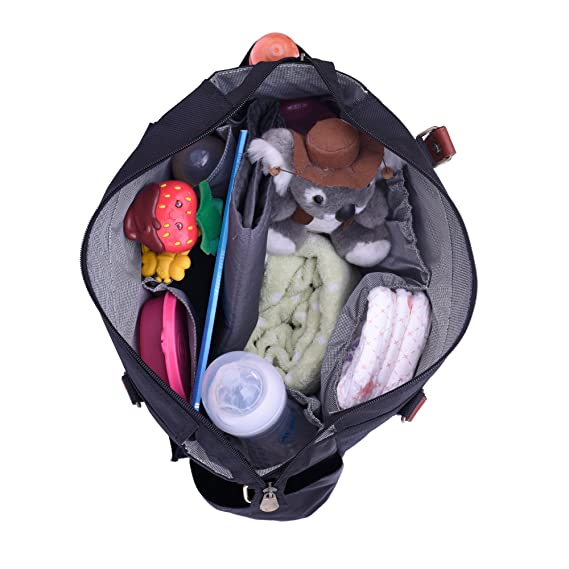 Bohomia Classic (Grey) Multi-Pocket Organizer Extra Large Diaper Bag for Mothers and Babies - Organizer Bags Ideal for Travel