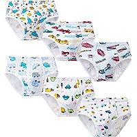 Growth Pal Little Boys' Underwear Briefs Soft 100% Cotton 6 Pack Kids Underwear Toddler Undies