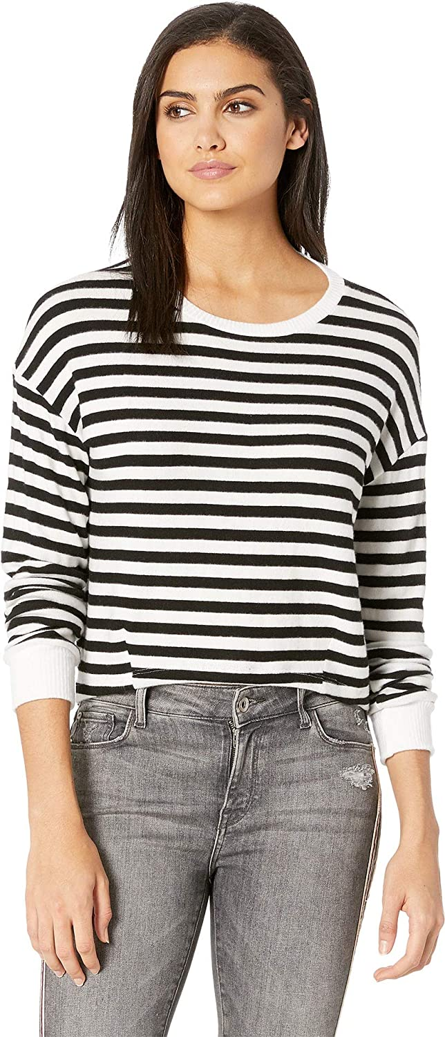 Black White Stripe LNA Womens Brushed Rina