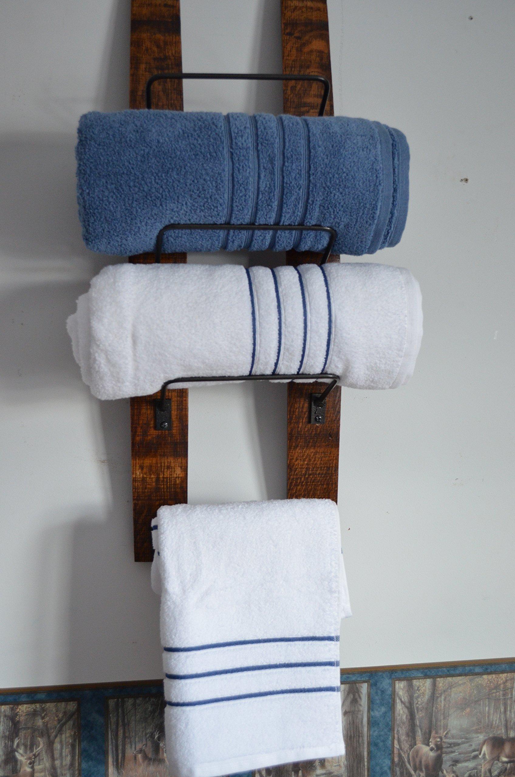 Wine Barrel Towel Rack