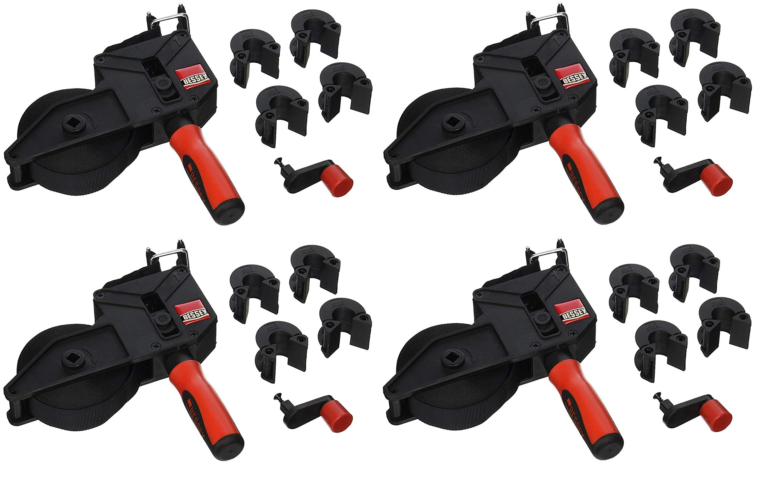 Bessey VAS-23+2K Vario Angle Strap Clamp (Pack of 4) by Bessey