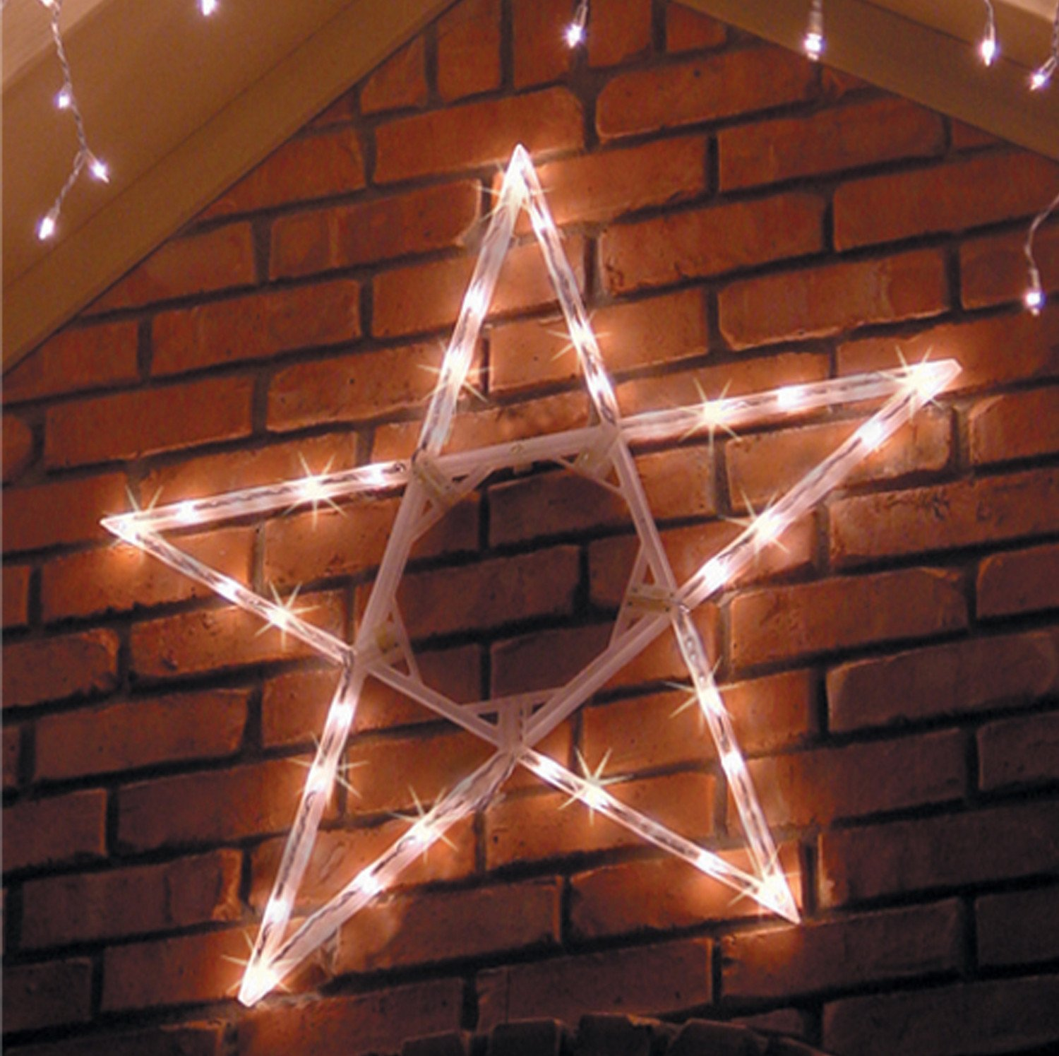 Amazon 4 led folding star decoration 70 cool white lights amazon 4 led folding star decoration 70 cool white lights string lights garden outdoor aloadofball Image collections