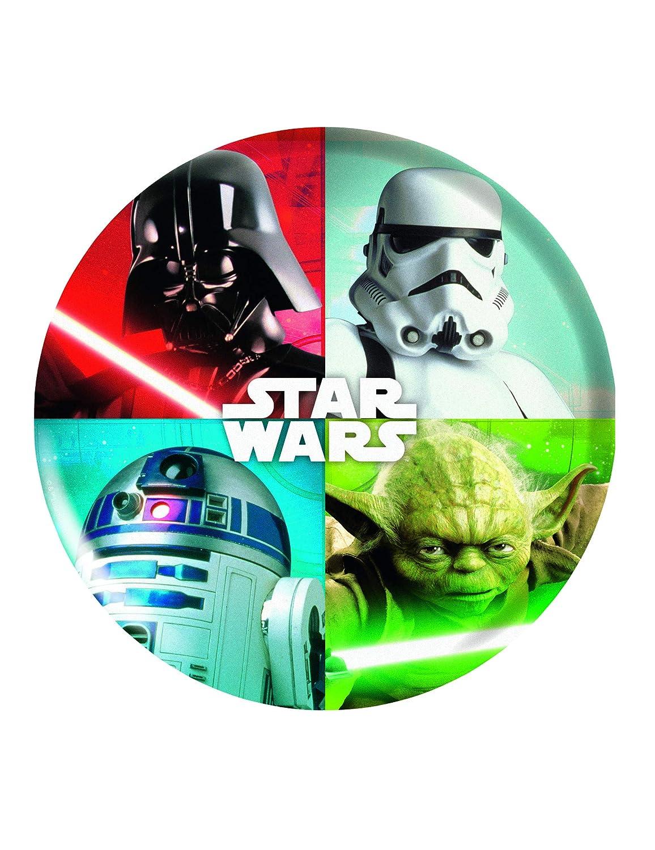 COOLMP - Juego de 6 Platos de melamina de Star Wars 21 cm ...