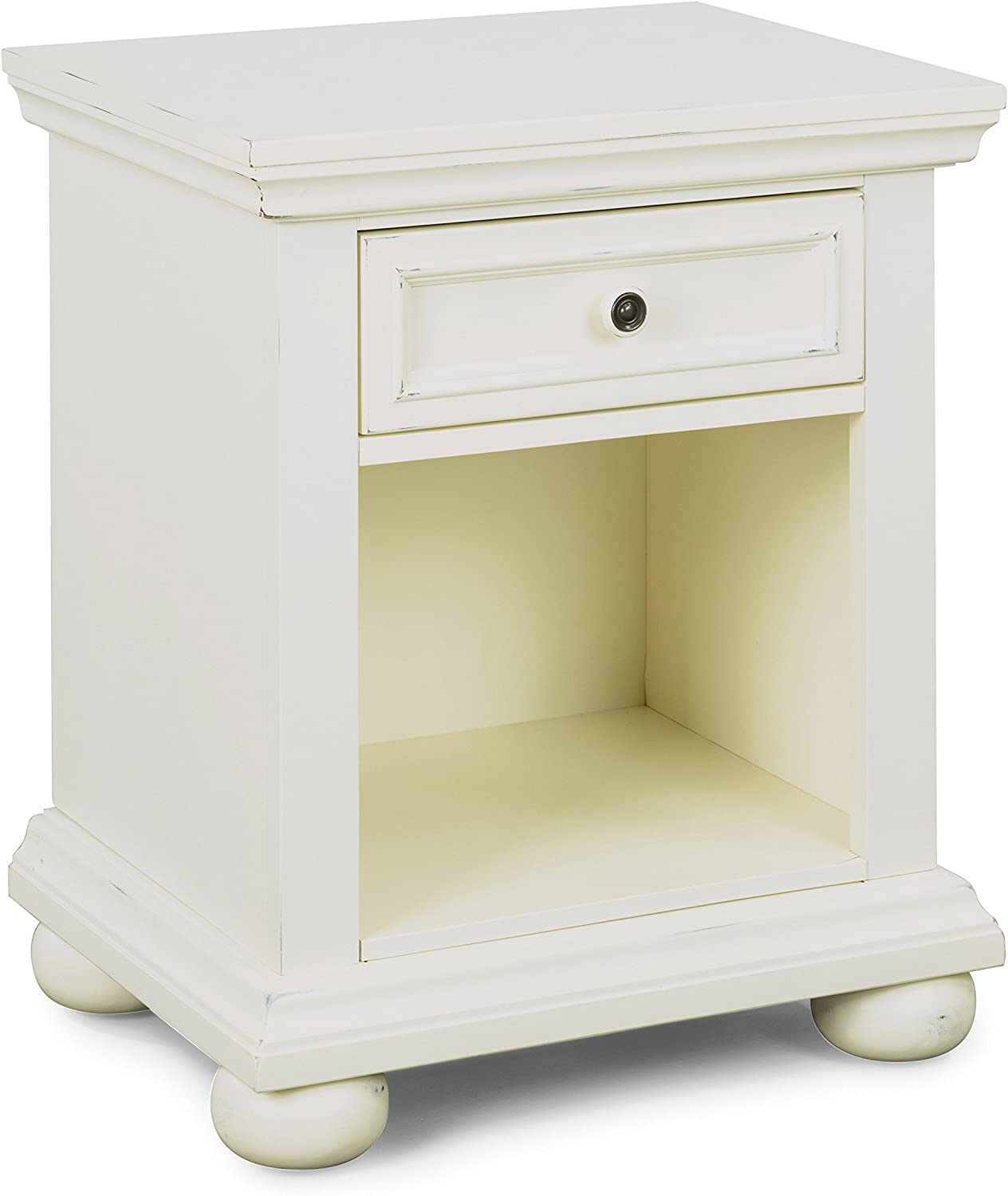 Dover White Night Stand by Home Styles