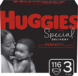 Huggies Special Delivery Hypoallergenic Diapers, Size 3 (16-28 lb.), 116 Ct, One Month Supply