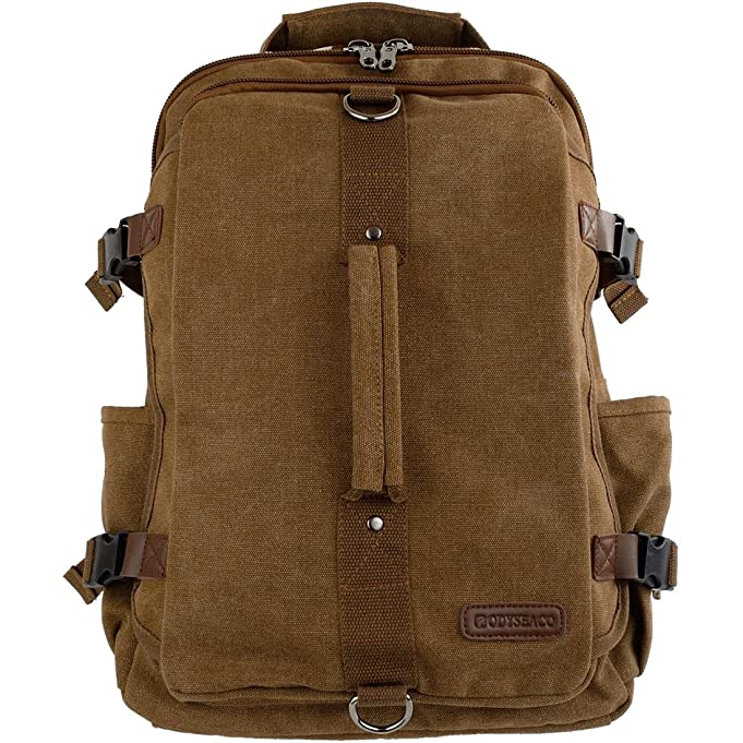0afad0d6af5f Montera Vintage Canvas Backpack - Heavy Duty Casual Daypack Rucksack Best  For Travel