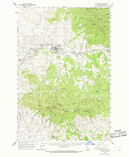 Potlatch Idaho Map.Amazon Com Yellowmaps Potlatch Id Topo Map 1 62500 Scale 15 X 15