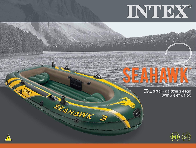 Intex 68380 Seahawk 3 Aufblasbares Schlauchboot Bootsport Ruder- & Paddelboote