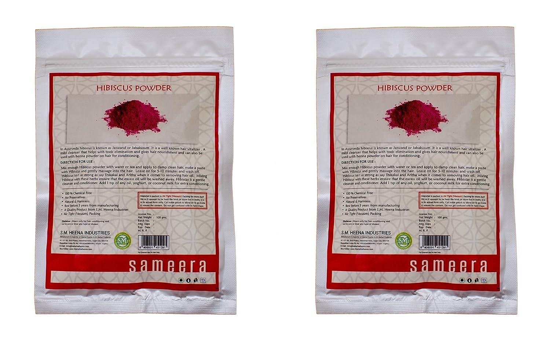 Sameera natural hibiscus powder 100g x 2 amazon beauty izmirmasajfo