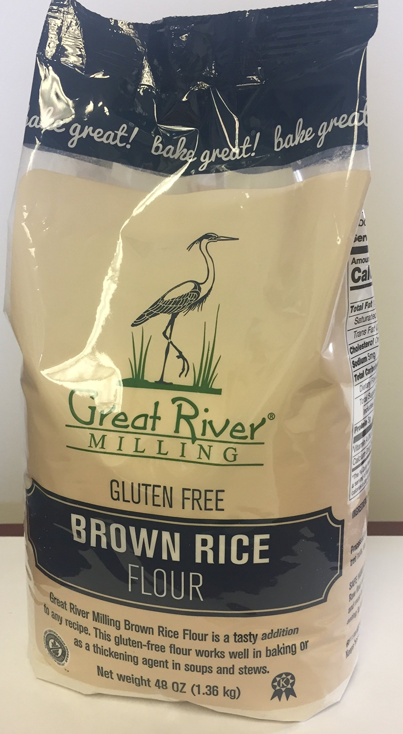 Great River Milling Gluten Free Brown Rice Flour, 48 Ounce (Pack of 4)