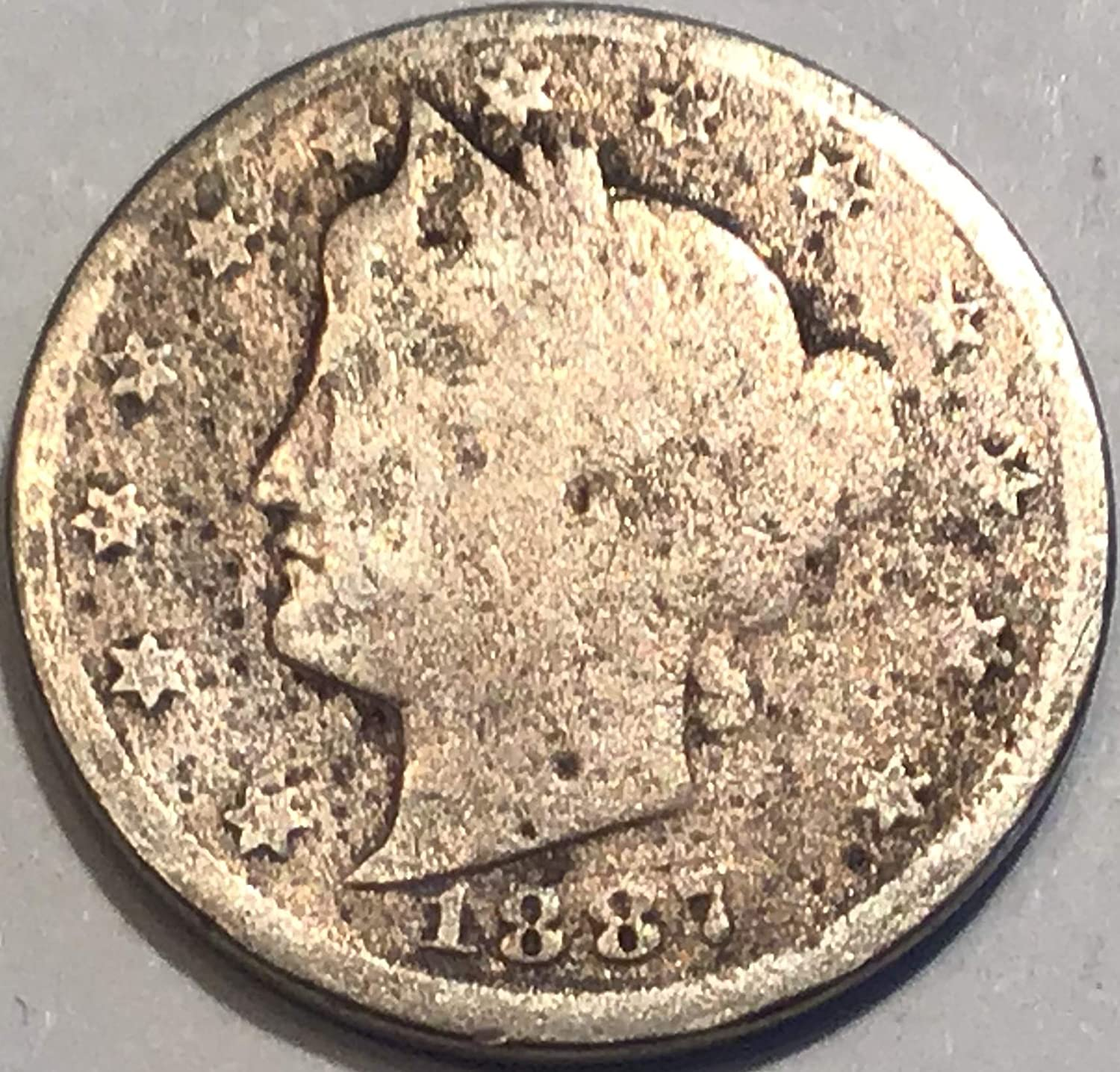 Good to Good+ 1887 Liberty V Nickel 1 5677