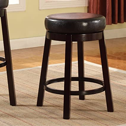 Tremendous Roundhill Furniture Wooden Swivel Barstools Counter Height Bister Brown Set Of 2 Pabps2019 Chair Design Images Pabps2019Com