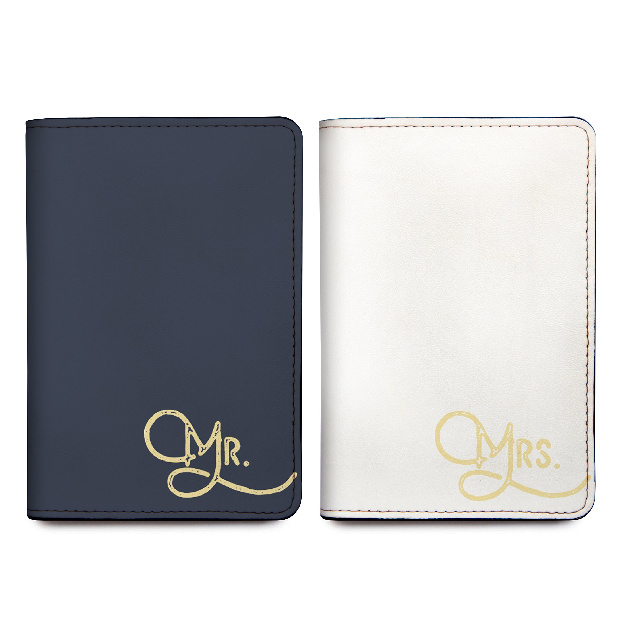 Mr and Mrs - Couple Passport Cover Personalized Passport Cover Set of 2