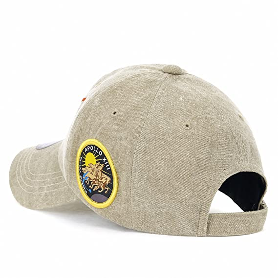 2e88fed8f09 ililily NASA Meatball Logo Embroidery Baseball Cap Apollo 13 Patch Trucker  Hat Beige)