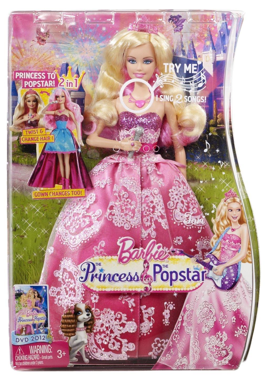 Uncategorized Barbie Pop Star amazon com barbie the princess popstar 2 in 1 transforming tori doll toys games