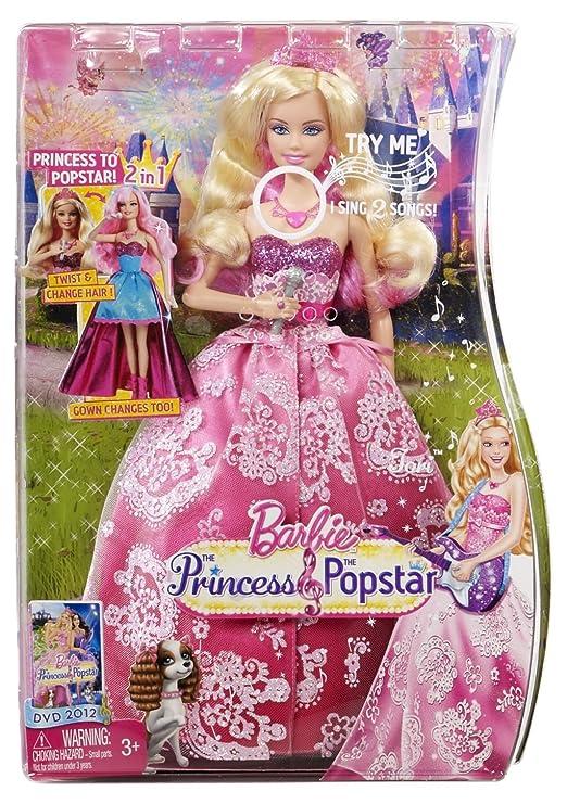 Amazon.es: Mattel Barbie La Princesa y la estrella del pop transformación Tori Doll: Juguetes y juegos