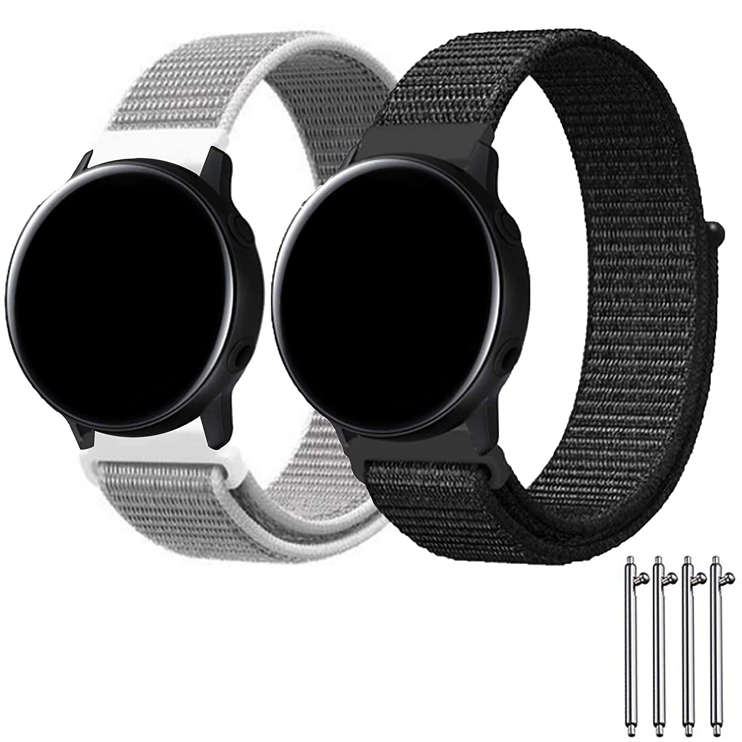 Lexyplus Sport Loop Band Velcro Compatible with Samsung Gear S3 Frontier/Asus/LG Smart Watch/Huawei Samsung Watch 46mm, 22mm Quick Release Nylon ...